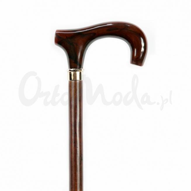 """Laska Cypr to klasyczna laska inwalidzka do podpierania, w stylu tradycyjnym z dużym uchwytem typu """"T"""" z brązowego tworzywa. Trzon wykonany z drewna w kolorze ciemnego brązu. Piękna klasyczna laska do chodzenia odpowiednia na każdą okazję i do każdego stroju, zarówno dla kobiety jaki i mężczyzny."""
