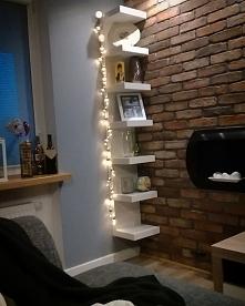 cegła na ścianie, biokominek, nastrojowe światło... Kocham!