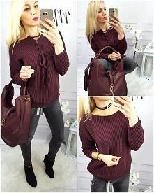 Bordo sweterek JULIA Wszystkie modele dostępne na  modneska.pl