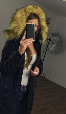 Kurtka Damska Ocieplana Kaptur Futerk0 Jenot Prosta Hit Najnowszy Model na Wiosnę Jesień Zimę 2016/2017 #119 Promocja Sklep FashionAvenue.PL