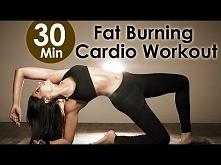 30 Min Fat Burning Cardio Workout ---> Moje dzisiejsze cardio ;) Robiłam dzisiaj nogi i brzuch + na koniec jak ostatnio cały czas... aeroby ;) Dzisiaj padło na to ;) Czy fajn...