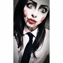 makijaż halloweenowy w moim wykonaniu :)