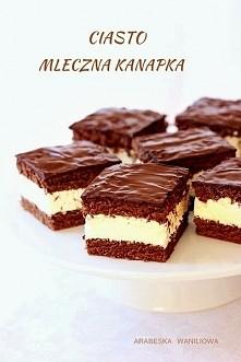 Mleczna kanapka ciasto, które pochodzi ze strony Arabeska Waniliowa. Kolejne ...