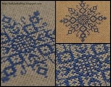 Śnieżynka - haft krzyżykowy