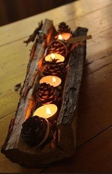 Pomysł na jesienny świecznik