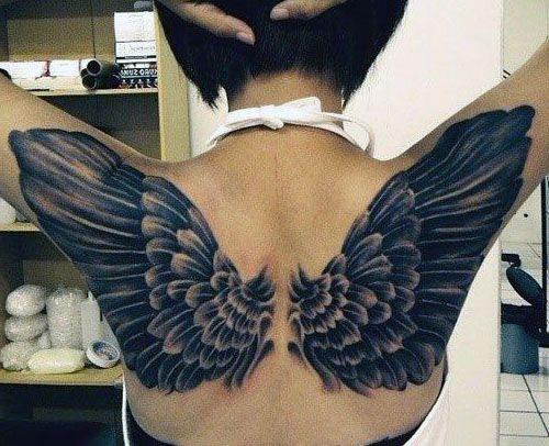 Tatuaże Damskie Piękne Skrzydła Na Tatuaże Zszywkapl