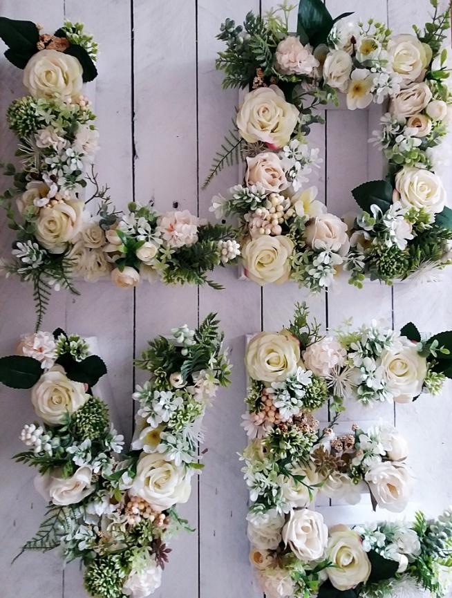 tego jak zrobić kwiatowe monogramy dowiecie się klikając w obrazek