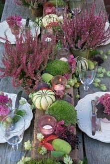 jesienne dekoracje, dekoracje jesiennego stołu, dekoracje domu jesienią