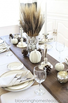 jesienne dekoracje, dekoracja jesienna domu, dekoracje stołu, jesień