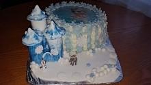 Tort na 4 urodzinki mojej córki Frozen Kraina lodu