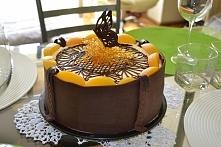 Tort brzoskwiniowy z czekol...