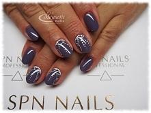 Blueberry Coctail Nails by MOnika, Studio Magnetic Nails Monika Sokołowska