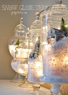 DIY Snow Globes with Lights