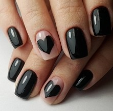 … even though black nails make a certain kind of statement, you can always find a way to express your love.