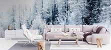 Fototapeta zimowy las myloview.pl