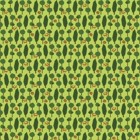 Bawełniana tkanina Lisy w Lesie (kliknij zdjęcie, by kupić)