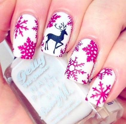świąteczny manicure :D