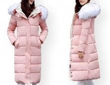 płaszcz damski pikowany futerko zimowy - kliknij na zdjęcie przejdziesz do innych rozmiarów