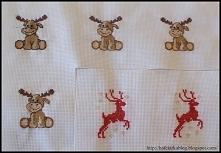Reniferki - haft krzyżykowy