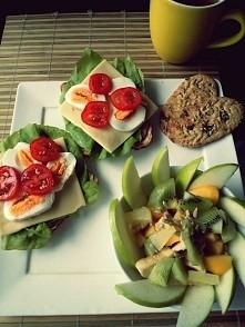 Śniadanko rozpoczęte by Calineczka. Kawa rozpoczęta także teraz śniadanko ☕ ☕ ☕ :):*