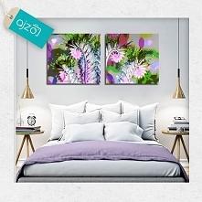 kolorowa abstrakcja z motywem kwiatów, to idealny dodatek do stonowanych w wystroju pomieszczeń. Dekoracja doda Twojemu wnętrzu charakteru.