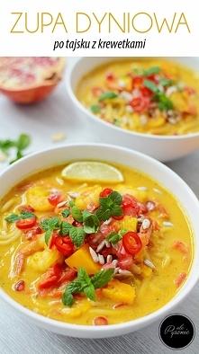 Zupa dyniowa po tajsku. Kliknij w zdjęcie i zobacz przepis.