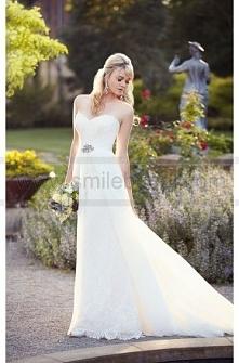 Essense of Australia A- Line Lace Wedding Dress Style D1809