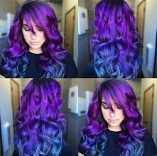 purple violet blue ombre hair