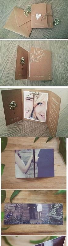 zaproszenia ślubne ze zdjęciem pary młodej:)