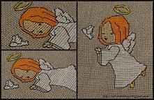 Aniołek - haft krzyżykowy