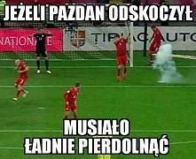 tymczasem na meczu Polska - Rumunia