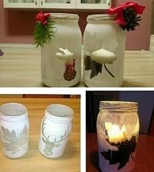 świąteczne świeczniki DIY
