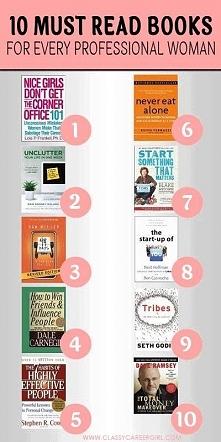 Planuje przeczytać chodź 5 z tych książek :D Kobietki nie bójmy się dążyć do swoich marzeń :D