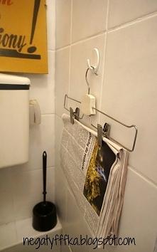 Bo w toalecie czyta się najlepiej:) Wieszak/gazetnik:)