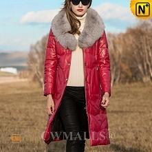 CWMALLS® Fox Fur Leather Do...