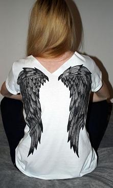 Skrzydła na koszulce :) Wzó...