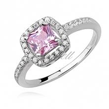 Elegancki pierścionek z del...