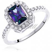 Elegancki, ciekawy pierścio...