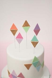 DIY Geometric Cake Toppers