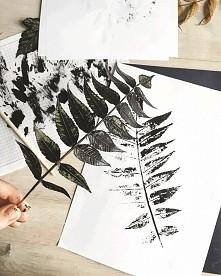 printy z liści +plakat do p...