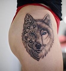 wilk i wzór mandala