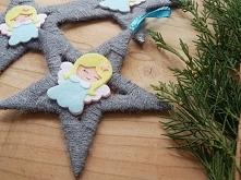 Gwiazdeczki z Aniołkami,,, piękne ozdoby na Święta od AndoraArt