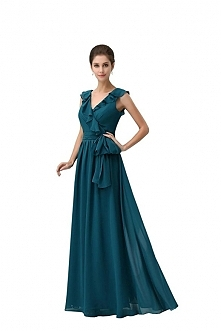 Angelia Bridal Dark Green D...