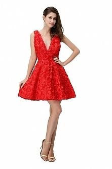 Angelia Bridal Women's V-Neck Short Cocktail Evening Party Dress  Now go to Amazon to buy