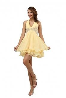 Angelia Bridal Women's Halter V Neck Chiffon Cocktail Party Dress  Now go to Amazon to buy