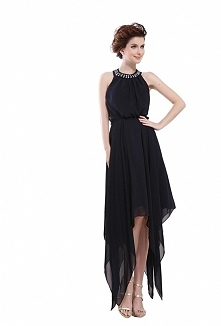 Angelia Bridal Women's Halter Backless Bead Irregular Chiffon Cocktail Party Dress  Now go to Amazon to buy