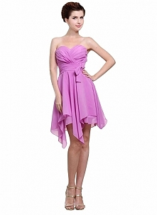 Angelia Bridal Women's Strapless Irregular Chiffon Cocktail Dress  Now go to Amazon to buy