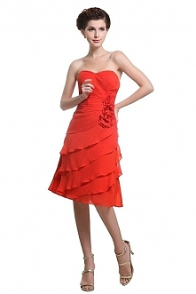 Angelia Bridal Women's Summer Strapless Flower Chiffon Short Evening Cocktail Dress  Now go to Amazon to buy