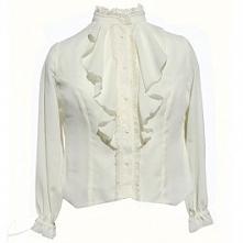 Bluzka z żabotem plus size....