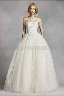 White by Vera Wang Tulle Halter Wedding Dress VW351277